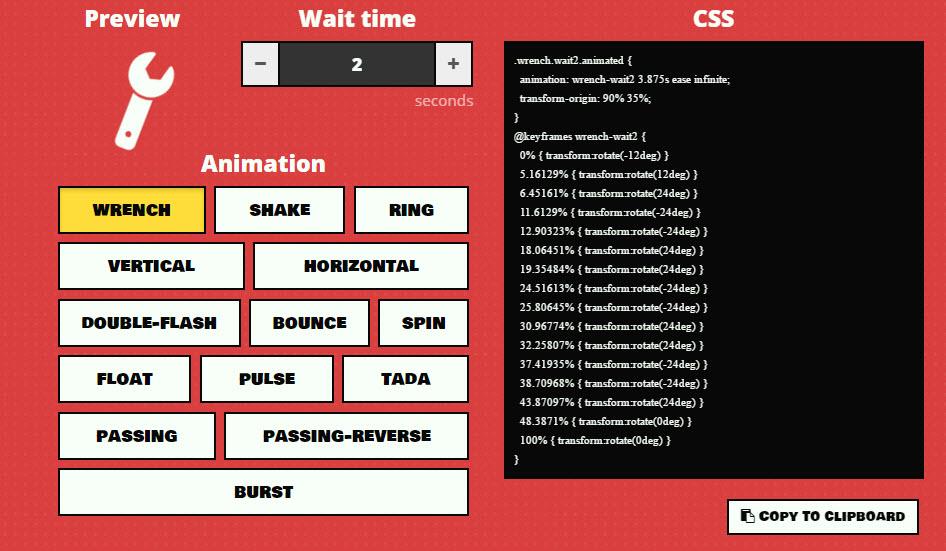 generador animaciones css 3