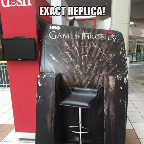 La peor réplica de trono de Juego de Tronos