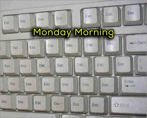tu teclado el lunes por la manana