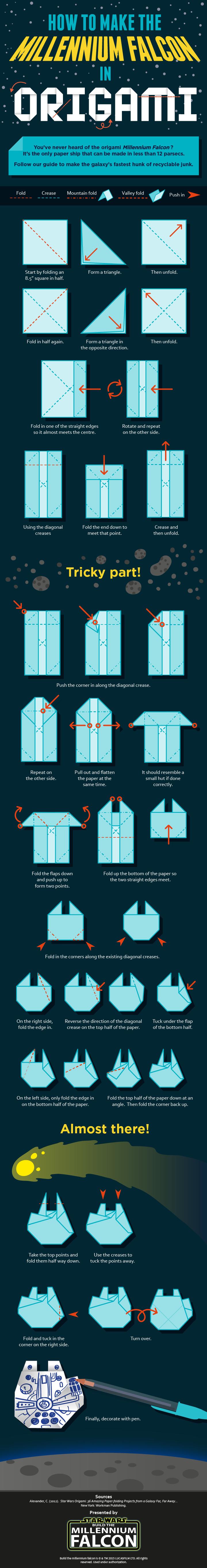 halcon milenario origami