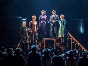 Draco, Ron, Hermione, Harry y Ginny