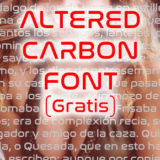 Tipografía de Altered Carbon GRATIS