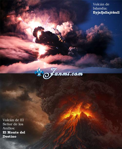 El volcán islandés es El Monte del Destino