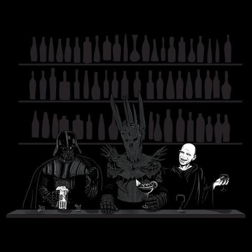 darth vader sauron y voldermort en un bar