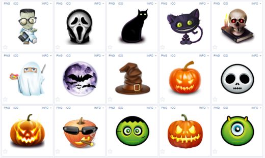 iconos de halloween