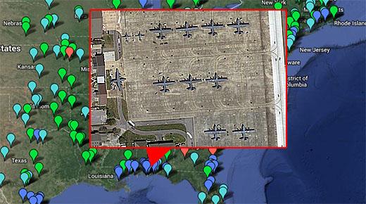 Bases militares de Estados Unidos en Google Maps