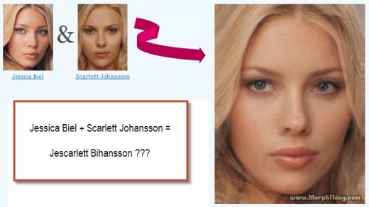 Jessica Biel + Scarlett Johansson