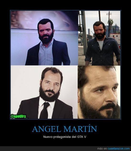 Ángel Martín y Michael de GTA V