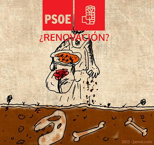 ¿Renovación del PSOE? (viñeta)