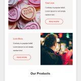 Plantilla de E-mail de San Valentín gratis