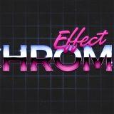 Photoshop: efecto de cromo en textos como en los 80