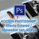 Acción de Photoshop: Efecto Stereo / Mosaicos con relieve